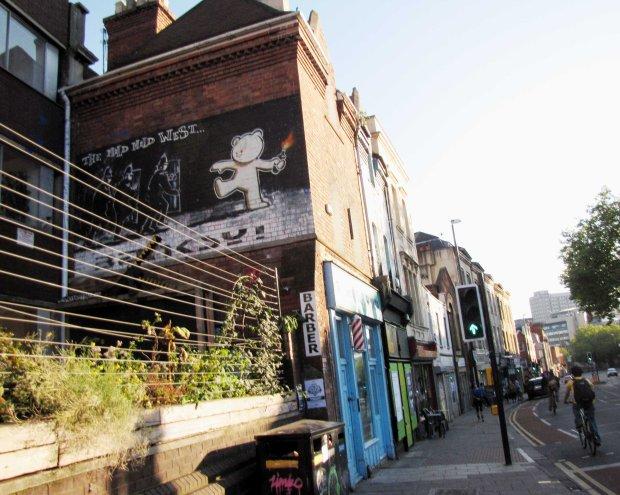Banksy mural Stokes Croft Bristol