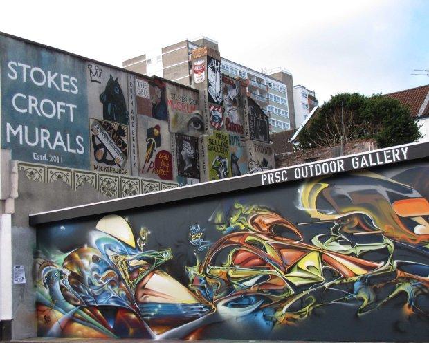 Stokes croft street art Bristol